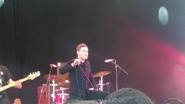 Deafheaven vocalist George Clarke at the Governors Ball Music Festival