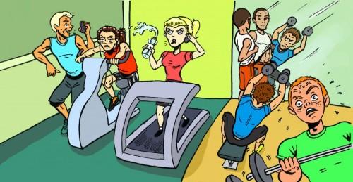 poor gym etiquette