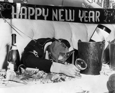 Passed-Out New Year's Eve Reveler