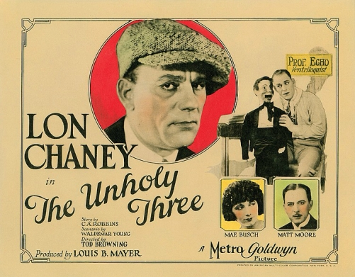unholy three lobby card