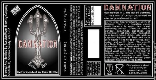 russian river brewing damnation
